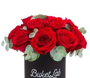 Rose Box - 15 роз в шляпной коробке