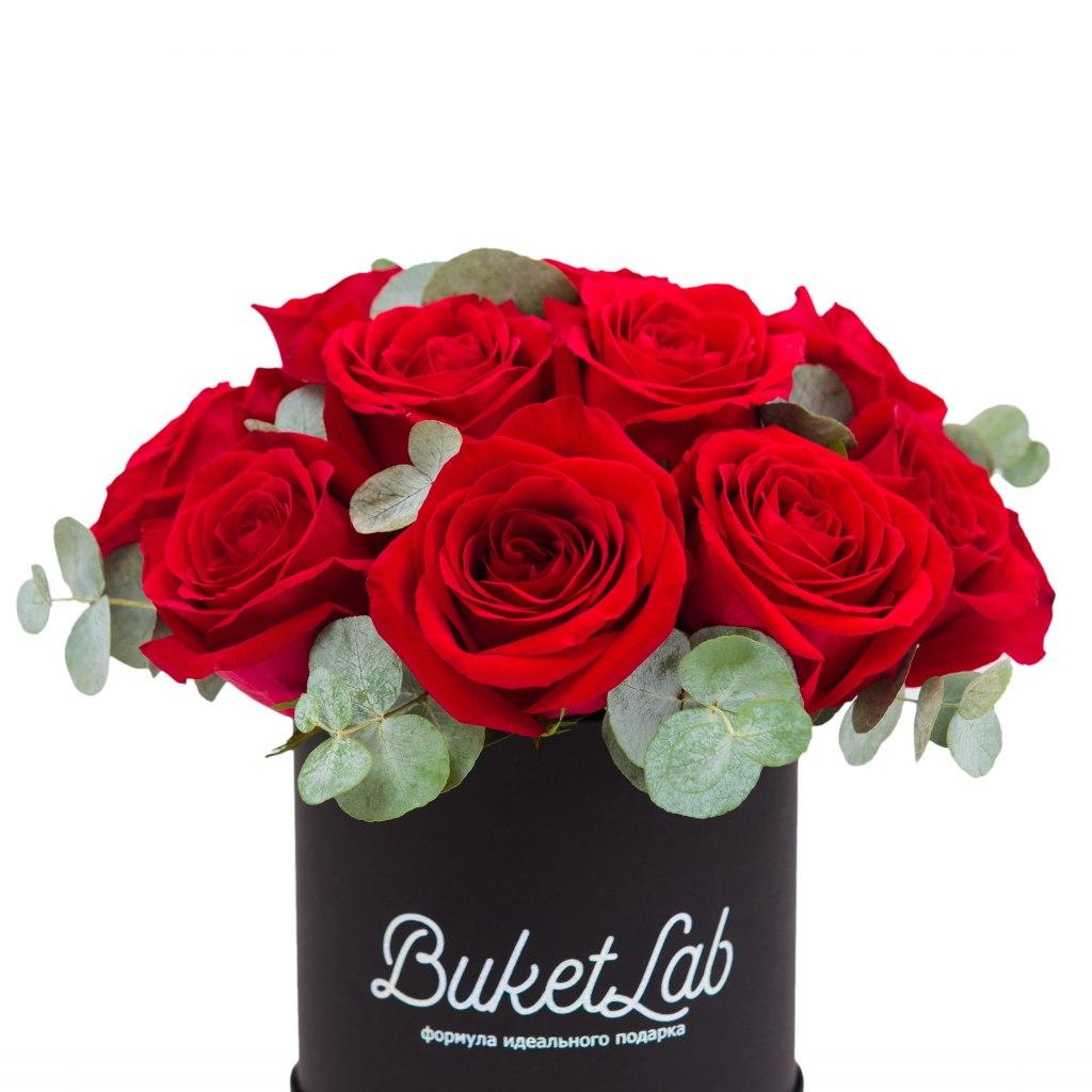 Rose Box - 15 роз в шляпной коробке 1