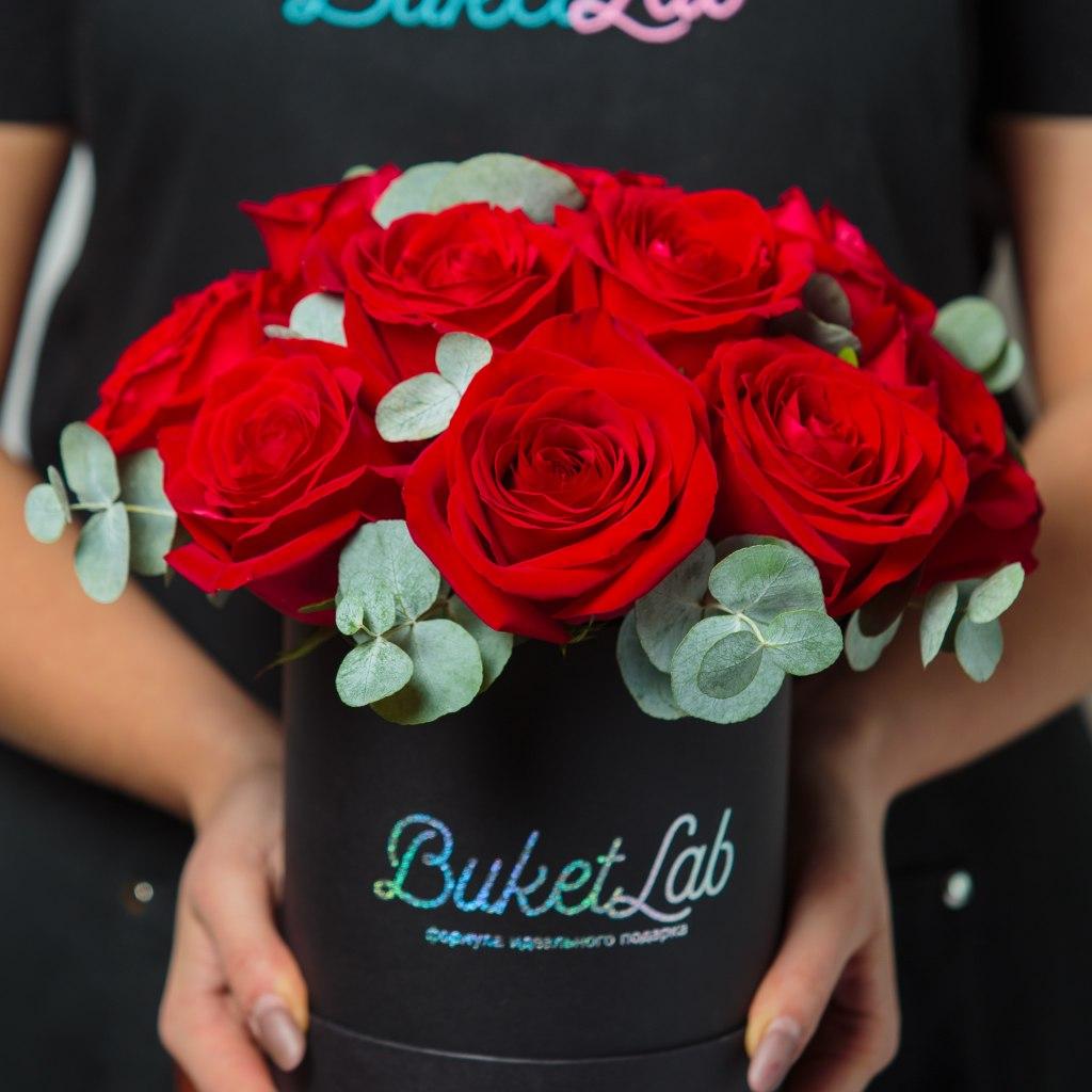 Rose Box - 15 роз в шляпной коробке 3